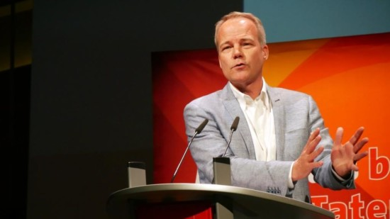 Dr. Matthias Miersch auf dem Parteitag des SPD-Bezirks Hannover im Juni 2019