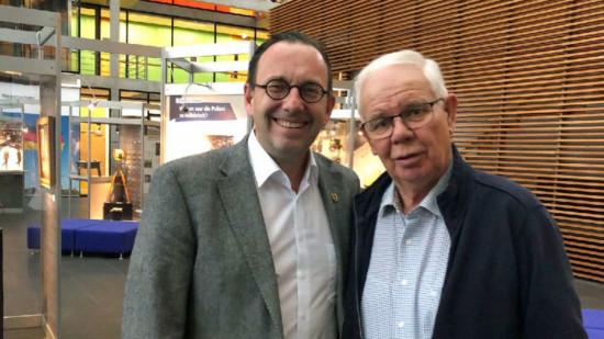 Das Foto zeigt von rechts: Friedrich Iven (Drebber) und Dirk Wehrbein (Wetschen)