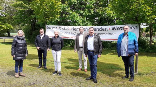 von rechts; Manfred Koch, Ralf Höfelmann, Dirk Wehrbein, Maren Pjede, Magnus Kiene, Peggy Schierenbeck.